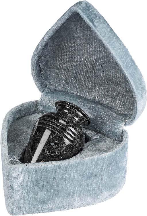 Black Grain Marble Urn