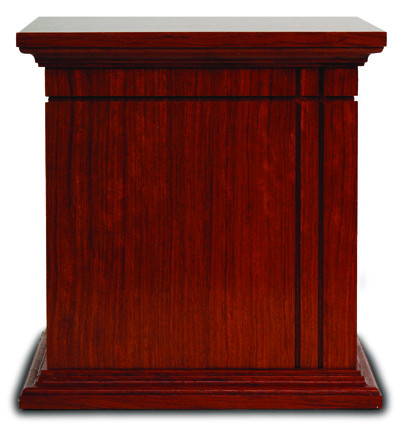 Bubinga Niche Urn Cremation Ashes