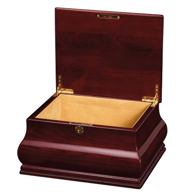 Bombay Memorial Urn Chest Cremation Ashes Rosewood