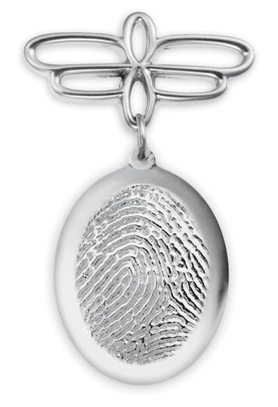 Fingerprint Jewelry Pin With Custom Print