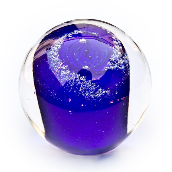 Solid Galaxy Orb Cremation Ashes Glass Keepsake