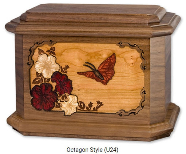 Cardinal Urn With 3d Inlay Wood Art Cremation Solutions