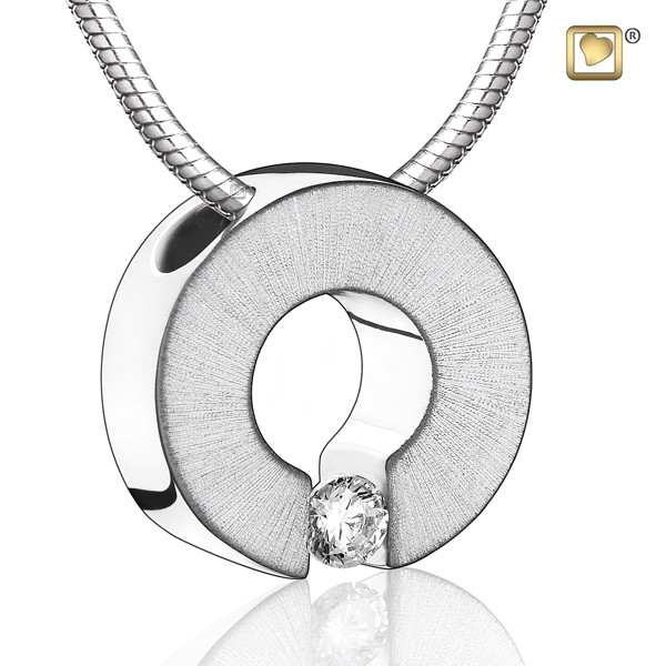Silver omega two tone cremation pendant cremation solutions silver omega two tone cremation pendant mozeypictures Choice Image