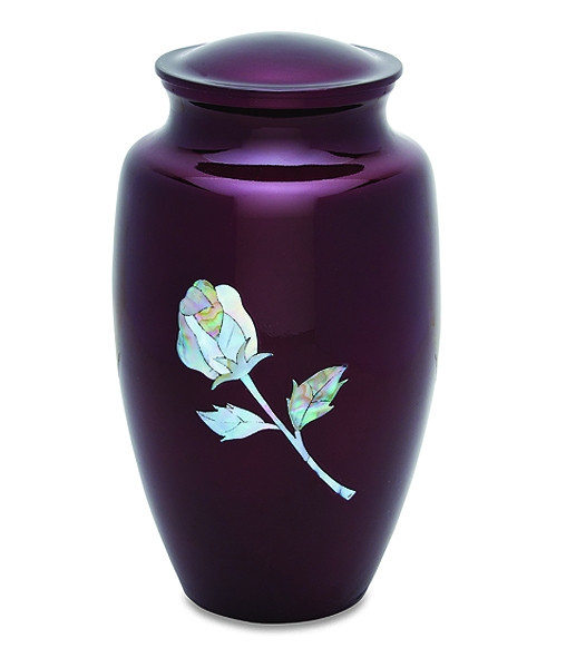 Deep Maroon Pearl Rose Urn Cremation Solutions