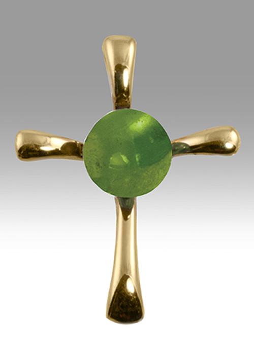 Symphony cross pendant peridot cremation solutions symphony cross pendant peridot 14k gold mozeypictures Gallery