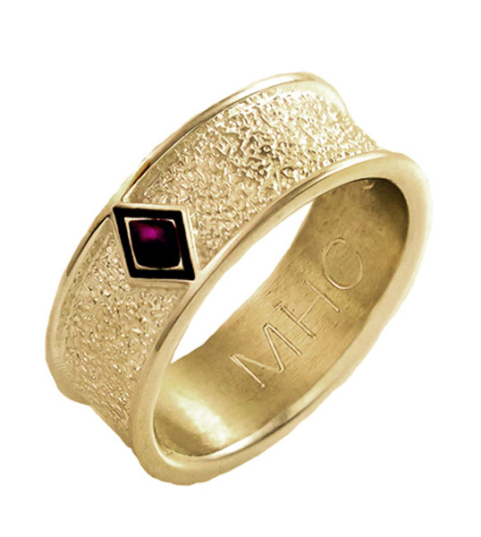 Phoenix Ring With Fingerprint And Cremation Ashes
