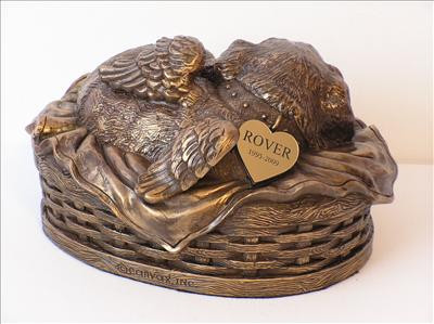 Sleeping Angel Dog Canine Dog Urn For Ashes Pet