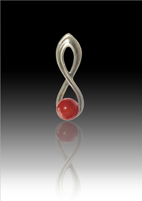 Infinity Glass Bead Pendant Red Cremation Solutions