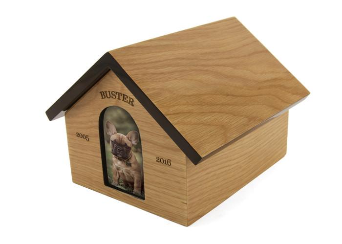 Dog House Urn Cremation Photo Ashes Pet