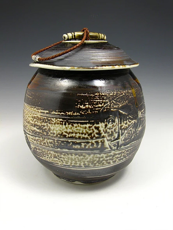 Soda Fired Three Urn Cremation Ashes Ceramic
