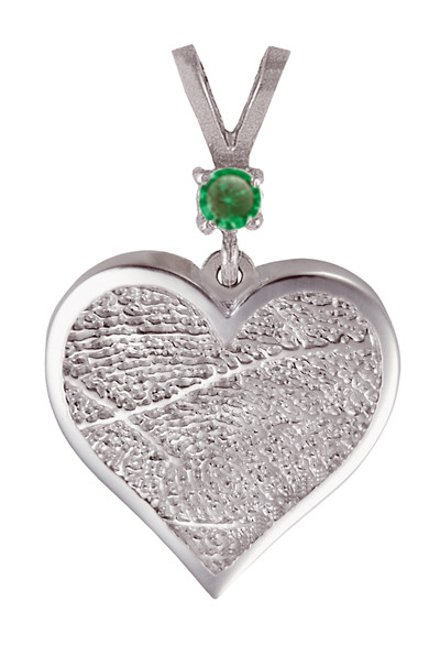 Single Heartfelt Fingerprint Jewelry Pendant