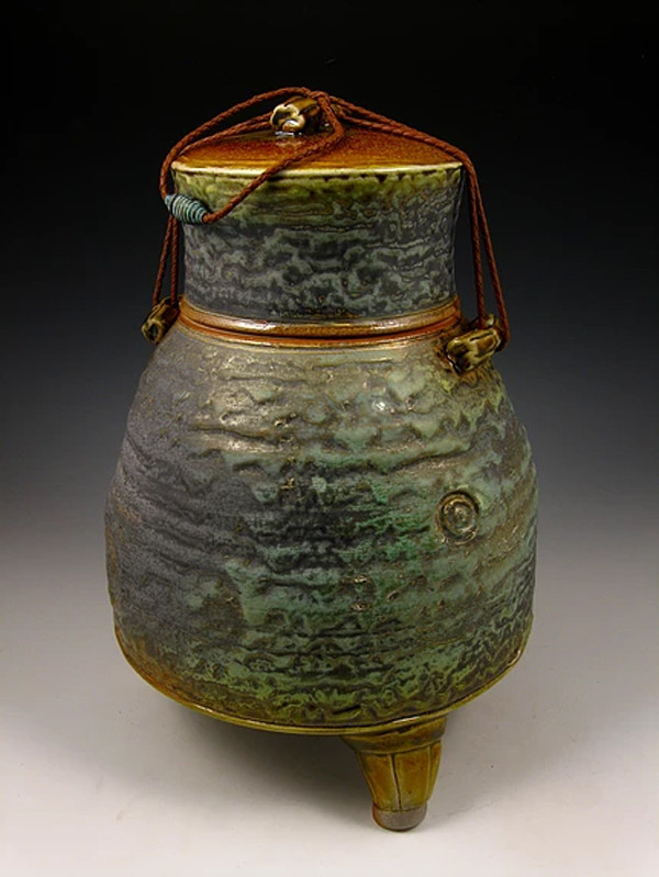 Ancient Jade Soda Fired Urn Cremation Ashes