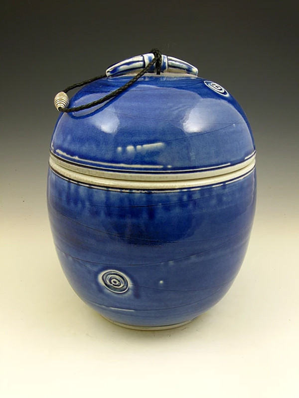 Oceans Ocean Soda Fired Urn Cremation Ashes
