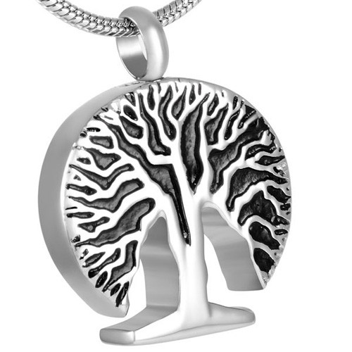 Cremation pendant that holds ashes necklace tree of life tree of life cremation pendant mozeypictures Images