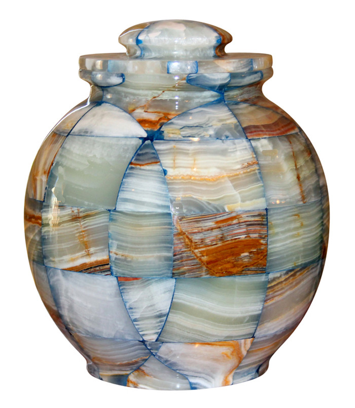 Triumph Onyx Blue Cremation Urn Ashes Marble
