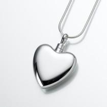 Large Modern Heart in Sterling Silver