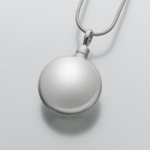 Large Round Pendant in Sterling Silver