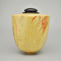 Hand Turned Box Elder Artistic Urn