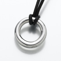 The Circle of Life Eternity Pendant in Sterling Silver