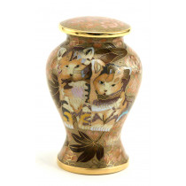 Kitty Cloisonne Pet Urn (Two Colors)