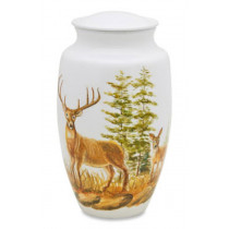 Two Deer Cremation Urn for Ashes