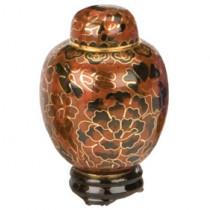 Amber Cloisonne Keepsake Miniature Urn