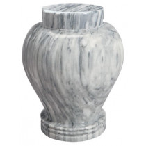 Silver Cloud Marble Urn (2 Sizes)