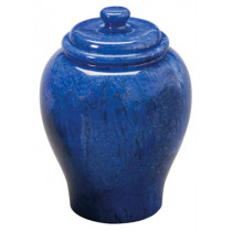 Cobalt Blue Marble Urn (2 Sizes)
