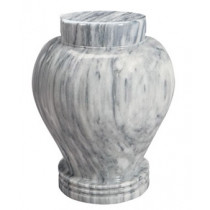 Silver Cloud Marble Keepsake Urn