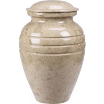 Cream Wash Marble Urn (3 Sizes)