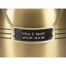 Bright Silver Urn Medallion