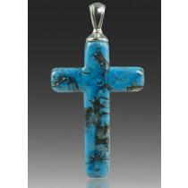 Cross Pendant - Turquoise