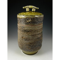 The Dancing Stone Soda Fired Urn