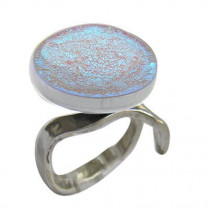 EL Silver and Blue Ring
