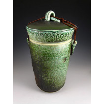 The Jade Stone Soda Fired Urn