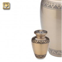 Keepsake Classic Gold Cremation Urn for Ashes