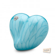LoveHeart Blue Medium Cremation Urn for Ashes