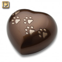 Heart Shaped Pet Cremation Urn for ashes - Bronze