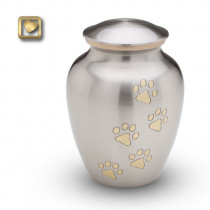 Classic Pewter Pet Cremation Urn for ashes