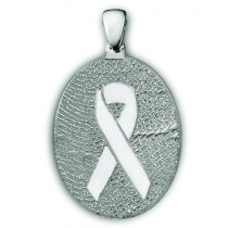 Classic Large Remembrance Ribbon Fingerprint Charm