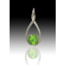Melody Twist - Peridot - Sterling Silver