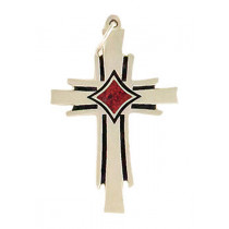 Phoenix Cross Charm - Large