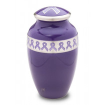 Awareness Purple Cremation Urn for Ashes