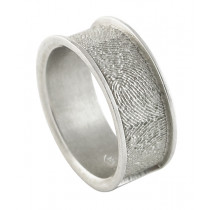 Remembrance Band Ring in Sterling Silver