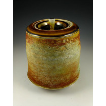 The Sun on Agate Soda Fired Urn