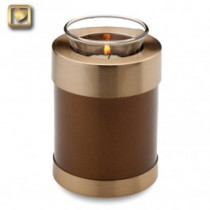 TeaLight Bronze Cremation Urn for Ashes