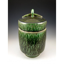 The Mossy Gem Soda Fired Urn
