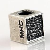 Thumbead Cube Bead Fingerprint Charm
