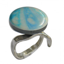 VL Blue and Beige Ring