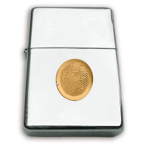 Zippo Lighter with 14k Yellow Gold Fingerprint